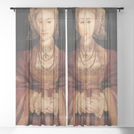 Hans Holbein the Younger - Betrothal portrait of Anne of Cleves Sheer Curtain