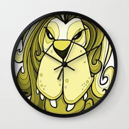 Lion - Meadowlark yellow Wall Clock
