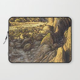 Rocky desert at sunset Laptop Sleeve