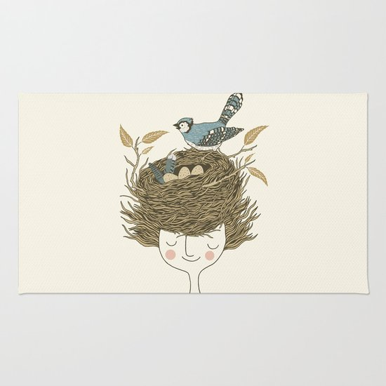 Bird Hair Day Rug
