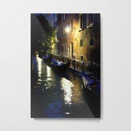 Venice: Canal Metal Print