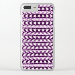 Asanoha Pattern Clear iPhone Case