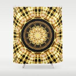 GlaMANDALA | Mandala Glamour Shower Curtain