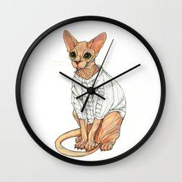 Sphynx Cat Wall Clock