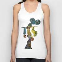 dancer Tank Tops featuring dancer by Marie Elke Gebhardt