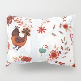 Nina the cat and the chicken Pillow Sham