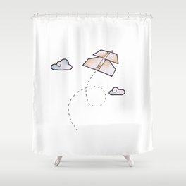 paperplane Shower Curtain