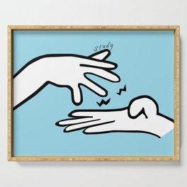 ASL Study Serving Tray