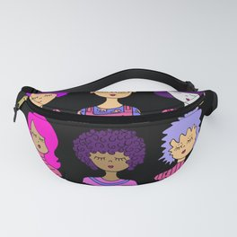 cute face pink hair Fanny Pack