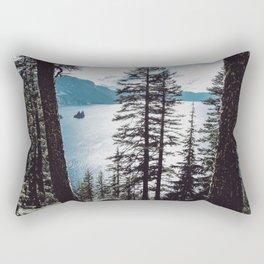 Mountain Lake Retreat Rectangular Pillow