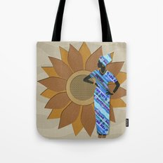 Sunflower Lady Tote Bag