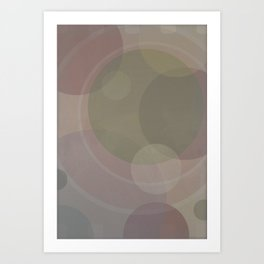 Circles Slate and Agate Art Print