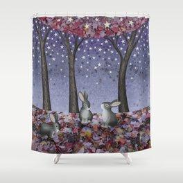 starlit bunnies Shower Curtain
