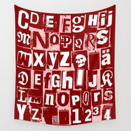 Ransom Letters Wall Tapestry