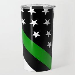 The Thin Green Line Flag Travel Mug