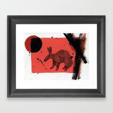 TATU CARRETA IN ATACAMA. Framed Art Print