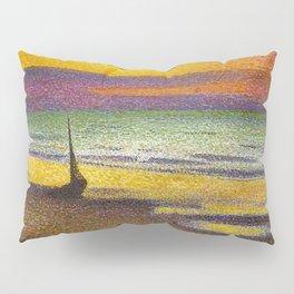 Classical Masterpiece 'Beach at Heist' by Georges Lemmen Pillow Sham