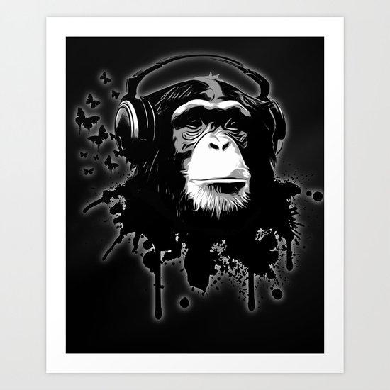 Monkey Business - Black Art Print