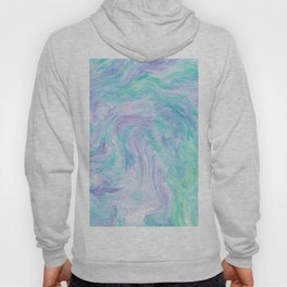 Turquoise Fantasy Marble Hoody