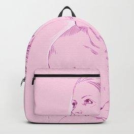 chica rosada sentada Backpack