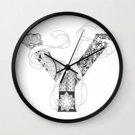 """Zenletter """"Y"""" Wall Clock"""