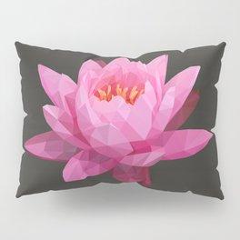 Pink Lotus Flower  Pillow Sham