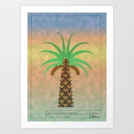 La Palmera Canaria o phoenix canariensis Art Print