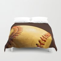 baseball Duvet Covers featuring Baseball by Janice Sullivan
