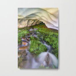 Ice Cave. At the mountain Metal Print