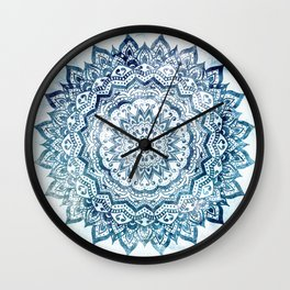 BLUE JEWEL MANDALA Wall Clock