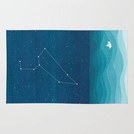 Leo zodiac constellation Rug
