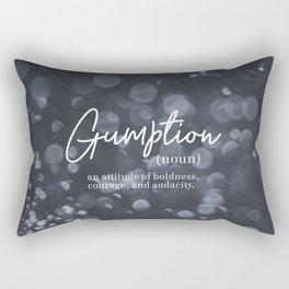 Gumption Definition - Word Nerd - Gray Bokeh Rectangular Pillow