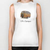 volkswagen Biker Tanks featuring Volkswagen Camper by CARZINART