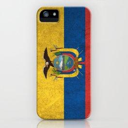 Ecuador Flag (Vintage / Distressed) iPhone Case