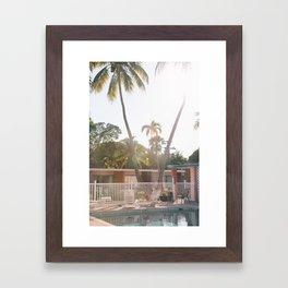 Motel Pool and Sun Framed Art Print