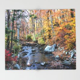 Autumn Woodlands Throw Blanket