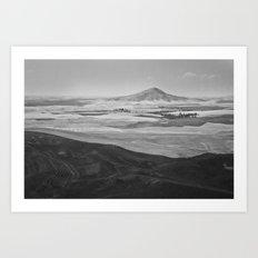 Steptoe Butte (B&W) Art Print
