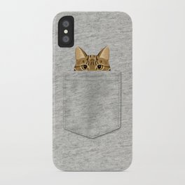 Pocket Tabby Cat iPhone Case