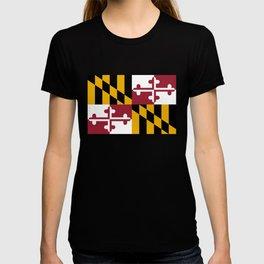 Flag of Maryland, High Quality image T-shirt