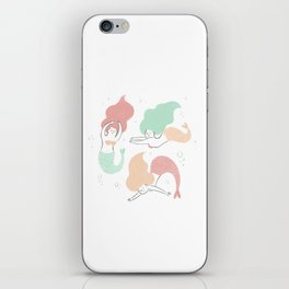 Colorful mermaids iPhone Skin