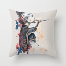 seehorse by carographic Throw Pillow