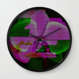 Orchid Glow Wall Clock