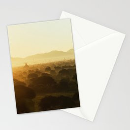 Bagan Pagoda Sunrise Stationery Cards