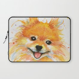 Happy Pomeranian Laptop Sleeve