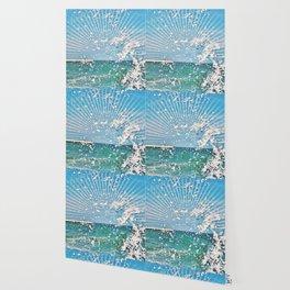 Sea spray - sunset graphic Wallpaper