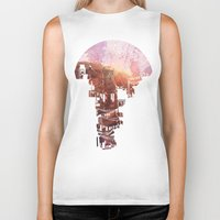 blues Biker Tanks featuring Secret Streets by David Fleck
