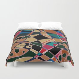 Abstraction. Curves and bends. Duvet Cover