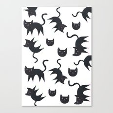 Playful cats in colourful heels Canvas Print