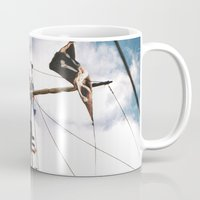pirate ship Mugs featuring Pirate Ship by For the easily distracted...