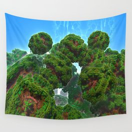 Bacterium Hedgerow Wall Tapestry